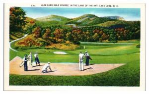 Mid-1900s Lake Lure Golf Course, Lake Lure, NC Postcard