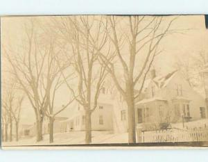 Faded Pre-1930 rppc Architecture HOUSES BEHIND BARREN TREES HM3223-22