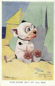 Artist Signed G.E. Studdy, BONZO Dog Show isn't at all Bad (1920s) Nr. 1079