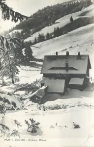 Romania Bucegi mountains winter landscape Diham cottage