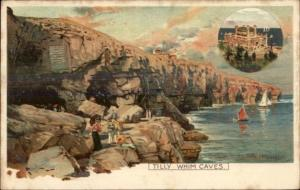 Swanage UK Tilly Whim Caves - Frank Richards 1908 Used Postcard