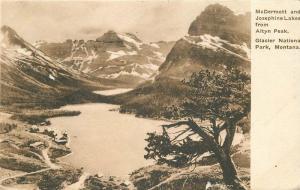 Allbertype Altyn Peak Glacier Park Montana 1920s McDermott Josephine 6492