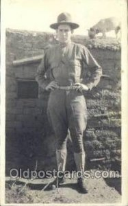 WWI Real Photo Military Soldier in Uniform Unused close to perfect corners