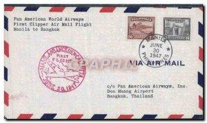 Letter Philippines Manila Bangkok Thailand June 30, 1947