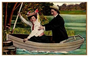8687   Romance,  Lovers in Boat,  My Little Eva,  Theochrom Series 1084 , 3 of 6