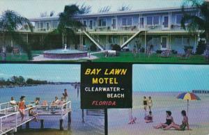 Florida Clearwater Beach Bay Lawn Motel 1956