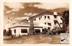 Jasper Canada Hotel Jasper en Quebec Main Lodge Real Photo Postcard JD933730