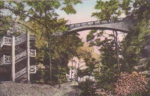 Illinois Utica Concrete Stair And Bridge Over Canyon Matthiessen State Park A...