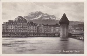Switzerland Luzern mit Pilatus 1933 Photo