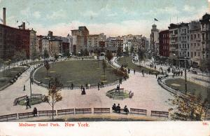 Mulberry Bend Park, New York City, N.Y.  Early Postcard, Used in 1907