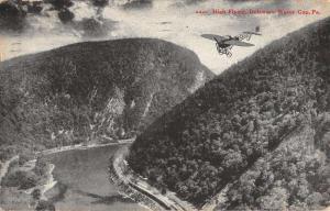 Delaware Water Gap Pennsylvania Scenic View Airplane Antique Postcard K79387