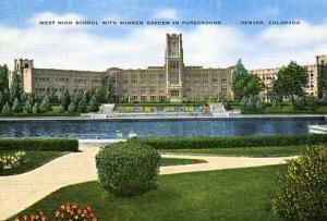 CO - Denver, West High School & Sunken Garden