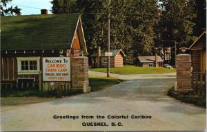 Cariboo Cabin Camp Auto Court Quesnel BC Osmers Unused Vintage Postcard D64