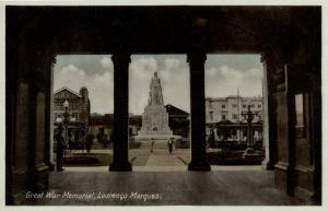mozambique, LOURENÇO MARQUES, Great War Memorial (1930s) Postcard