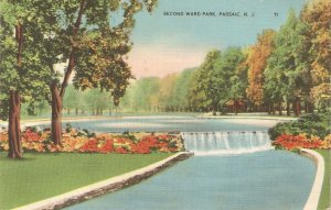 Second Ward Park. Passaid. N.J. Nice American postcard 1950s