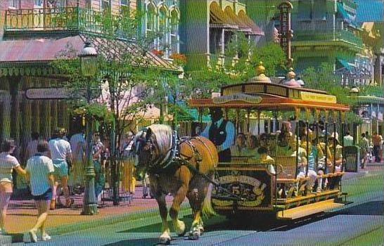 Florida Walt Disney World Trolley Ride Down Main Main Street U S A 1980