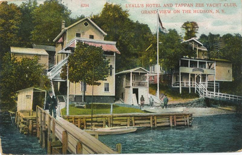 Grandview on Hudson Rockland NY Lyall's Hotel Tappan Zee Yacht Club DB 1914