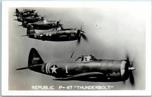 1940s U.S. Army Air Corps RPPC Photo Postcard REPUBLIC P-47 THUNDERBOLT