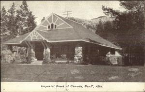 Banff AB Alberta Imperial Bank of Canada c1910 Postcard
