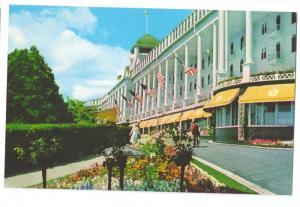 Grand Hotel Mackinac Island Michigan MI Facade Front Porch Postcard