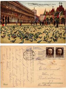 CPA Venezia Piccioni di Piazza S. Marco. ITALY (520674)