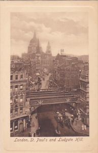 TUCK #2450, St. Paul's And Ludgate Hill, LONDON, England, UK, 1900-1910s