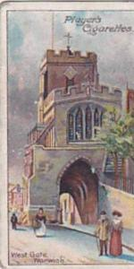 Player Vintage Cigarette Card Celebrated Gateways 1909 No 29 West Gate Warwick