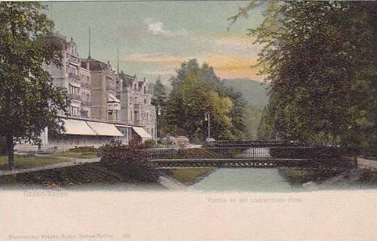 Germany Baden Baden Parthie an der Lichtenthaler Allee