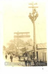 Utility Pole Workers, Telephone, Electric, Elecrical Linemen, Real Photo Unused