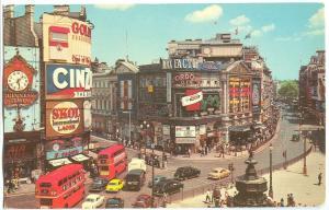 UK, London, Piccadilly Circus, 1960s unused Postcard