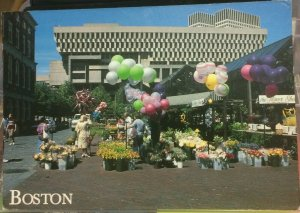 United States Boston Quincy Market with Government Center - posted 1989