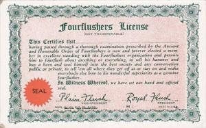 Arcade Card Humour Fourflushers License