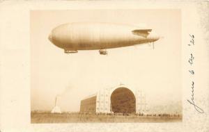 E89/ Blimp Zeppelin Hangar RPPC Postcard 1926 Airship Florida?