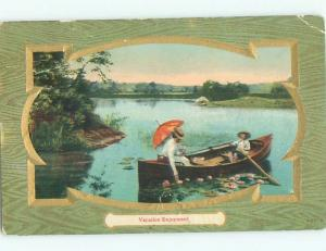 Divided-Back PRETTY WOMAN Risque Interest Postcard AA7997
