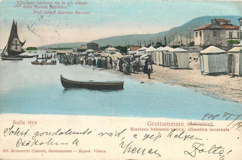 GROTTAMMARE STAZIONE BALNEARE ESTIVA CLIMATICA INVERNALE ITALIA ITALY 1908