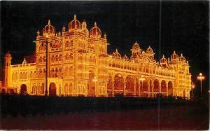 India illuminated Maharaja`s Palace Mysore