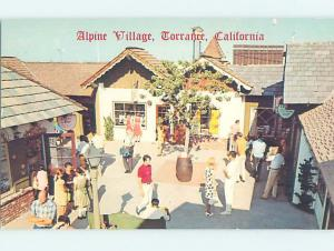 Pre-1980 ALPINE VILLAGE SHOPS Torrance by Long Beach & Los Angeles CA AF3219-19