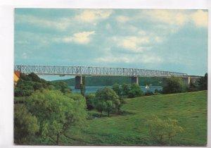 Denmark, Lillebaeltsbroen, The Bridge across Lillebaelt used Postcard