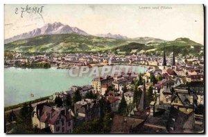Old Postcard Switzerland Luzern und Pilatus