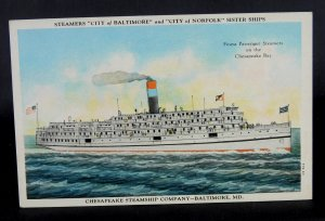 Baltimore, MD - Steamship - Chesapeake Steamship Co