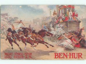 1920's Postcard Ad BEN HUR BOOK BY SEARS AND ROEBUCK AC7298
