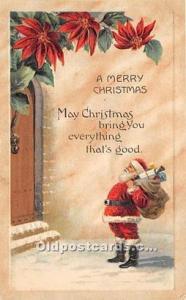 Santa Claus Christmas Writing on back