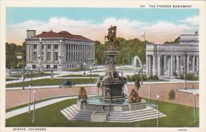 Colorado Denver The Pioneer Monument Curteich