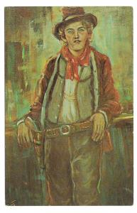 Billy The Kid Western Outlaw Lea McCarty Painting Knotts Berry Farm Postcard