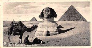 Prayer near the Sphinx, Smaller size Cairo Egypt, Egypte, Africa 1934