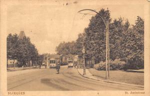 Netherlands, Nijmegen, Nimeguen, St. Jorisstraat, bicycle trams