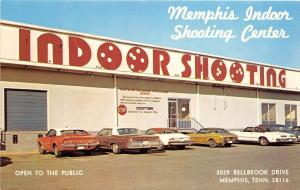 C13/ Memphis Tennessee Tn Postcard Chrome Indoor Shooting Range Cars Guns