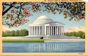 Washington D C Thomas Jefferson Memorial Through Cherry Blossoms 1944 Curteich