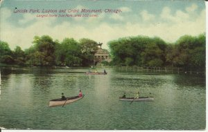 Chicago, Lincoln Park Lagoon And Grant Monument