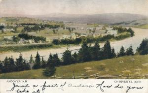 Andover NB New Brunswick Canada on River St John Message Do not know you pm 1907